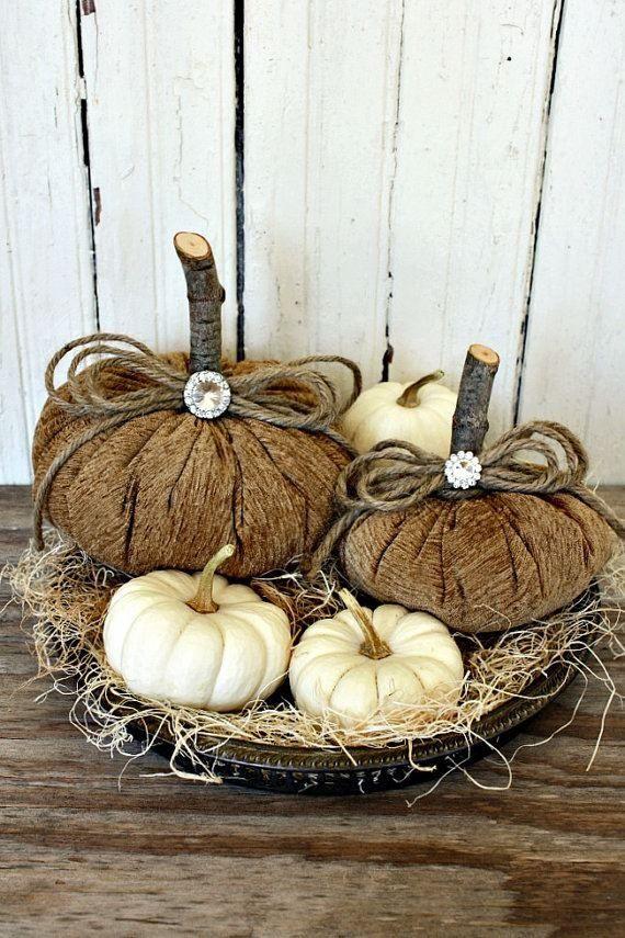 Fall pumpkin display ~ Burlap Crafts ~ Bing images #decorations