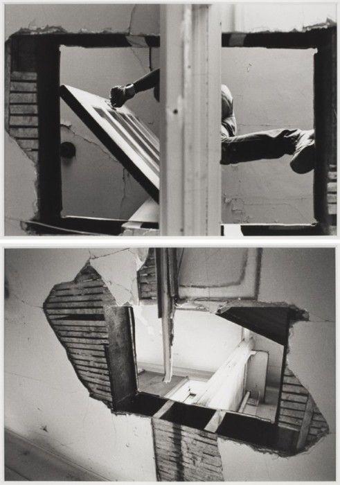 Gordon Matta-Clark  Bronx Floors: Threshole (1972)  Art Experience NYC  www.artexperiencenyc.com/social_login/?utm_source=pinterest_medium=pins_content=pinterest_pins_campaign=pinterest_initial