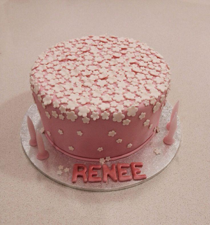 Little flowers birthday cake