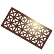 Air vent grilles can be one of the most overlooked items in a house. Most people choose basic white vents. Install custom patterned grilles in an interesting finish for a richer, more polished look. Custom Grill, Price Upon Request, AA Grilles