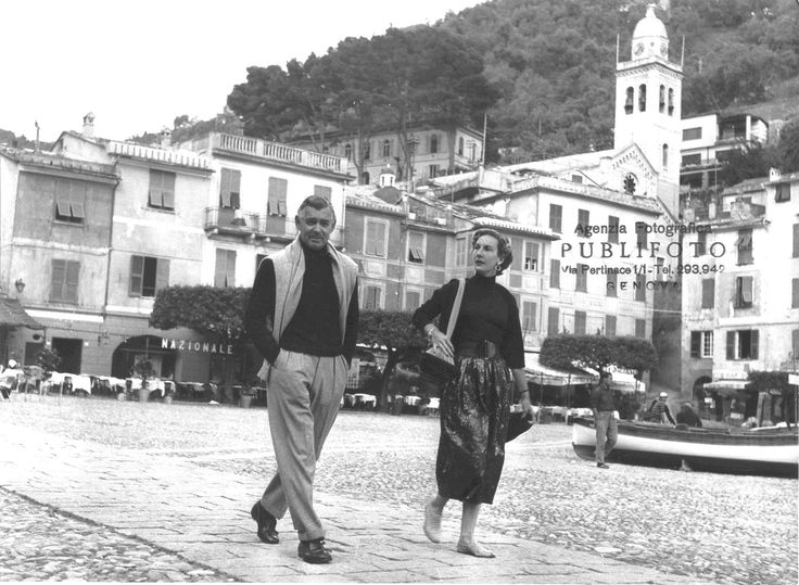 Clark Gable a Portofino (Photo: Publifoto, 1953) #portofino #liguria #rivieraligure #hollywood