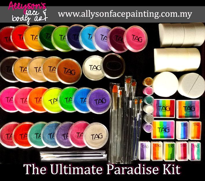 Face Painting STARTER KIT       - We know how you feel as a beginner, eg: not sure what color to buy, which brushes to use, which type...