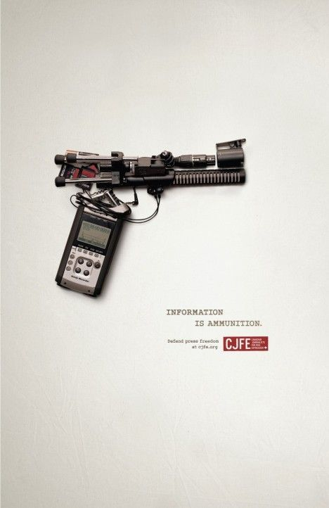 """Information is ammunition"" - CJFE"