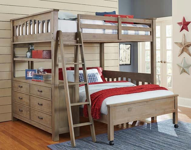 This Shape Style Crosspointe Twin Size L Shape Bunk Beds