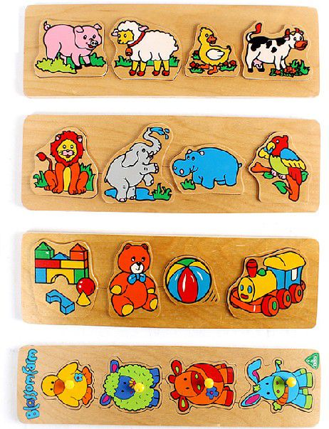 Early childhood wooden toy baby jigsaw puzzle square handle animal hand plate Early childhood wooden toy baby jigsaw puzzle square handle animal hand plate [TEN-JP-0013] - $36.99 : Tensimply, The Best Online Toy Store