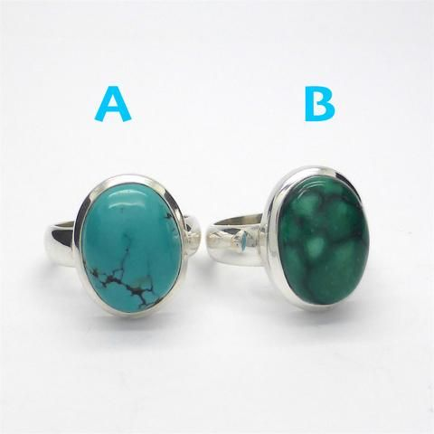 Ring Tibetan Turquoise Oval Marquise | 925 Sterling Silver | US Size 8 | Crystal Heart Melbourne Australia since 1986
