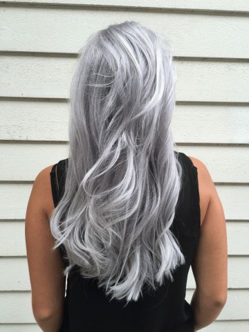 """Marije Stoelhorst (@Marije_SalonB), an artist at Salon B in Almere (Netherlands) says she is a """"Proud member of the Unicorntribe! My biggest passion (next to my two daughters) is color, especially the grey, silver and cool blonde tones."""" Stoelhorst demonstrated that passion with this photo we found on Instagram. We had to know more. Here Stoelhorst shares the details:"""