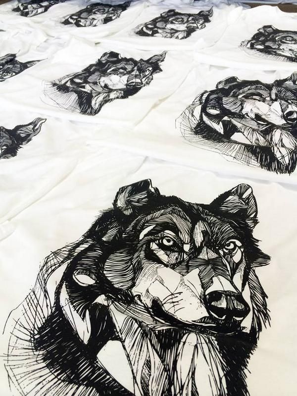 Wolfffhead has been fully restocked! Discharge ink