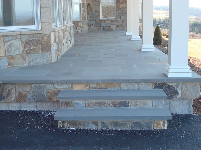 Blue Stone Front Porch Google Search Front Porch