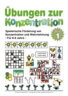 Übungen zur Konzentration - Spielerische Förderung von Konzentration und Wahrnehmung