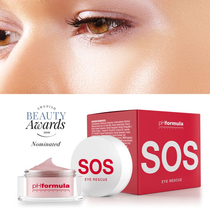 Another nomination for pHformula at the Swedish beauty Awards 2018 - our  SOS EYE Rescue was nominated under the luxurious product category. #SOS #awardnomination #advancedskincare