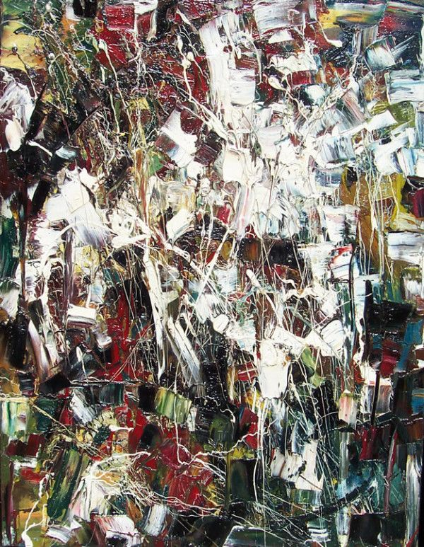 Jean Paul Riopelle Sans Titre, 1948 Oil on Canvas 38.5″ x 51″