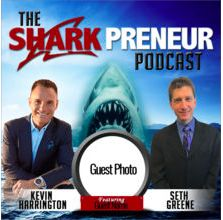 """Erica Duran on the Sharkpreneur Podcast """"Build A Freedom Based Business"""" by Seth Green, Kevin Harrington, and Erica Duran"""
