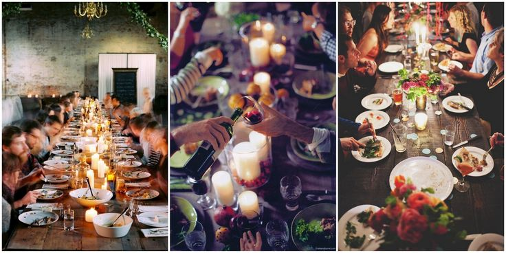 casual dinner party, sparkly table setting, magical dinner party