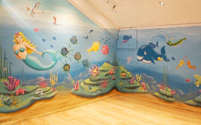 25 beste idee n over strand muurschildering op pinterest oceaan muurschildering golf - Deco muurschildering ...