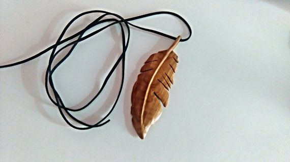 Feather made of olive wood