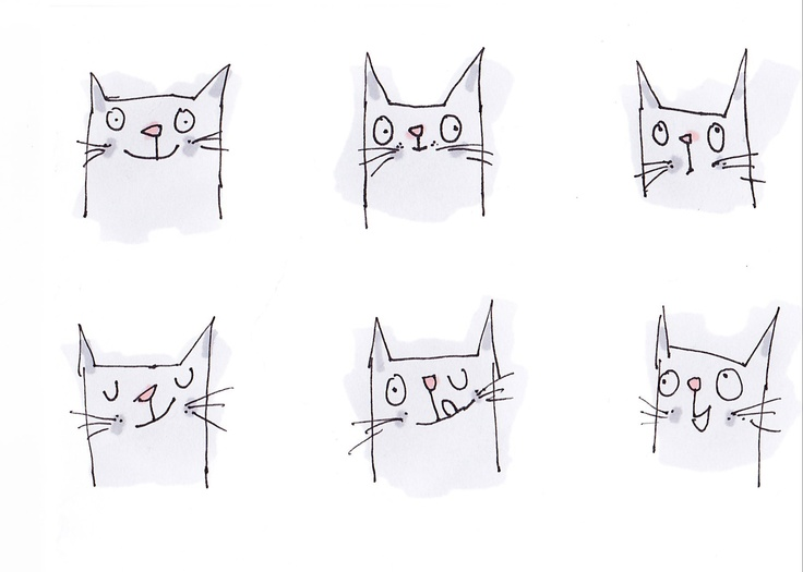 My quick drawing of cats   http://heidimmcdonald.blogspot.com