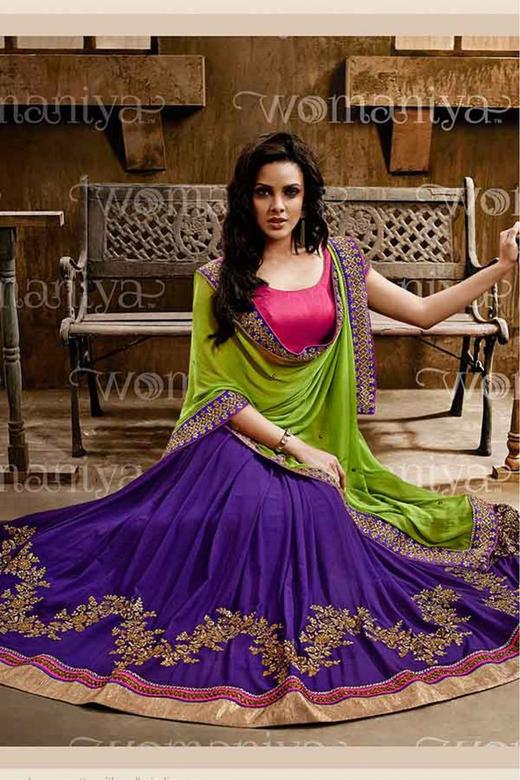 Blue and Green Colour Georgette Fabric Designer Saree Comes with matching Blouse. This Saree Is Crafted With Embroidery,Lace Work. This Saree Comes With Unstitched Blouse Which Can Be Stitched Up To S...
