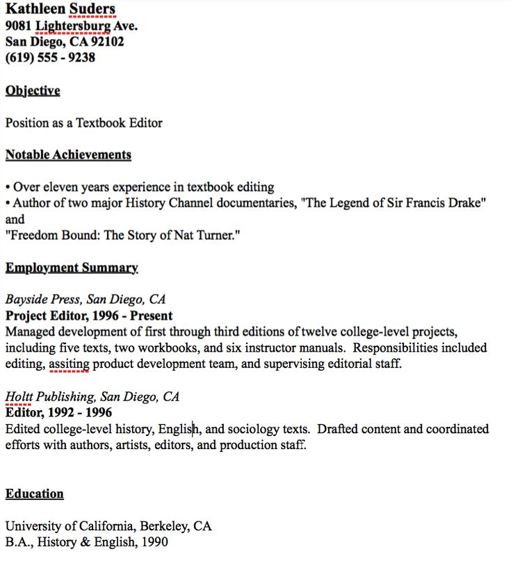 Textbook Editor Resume Example -    resumesdesign textbook - resume editor free