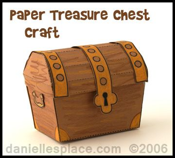 Paper Treasure Chest Bible Craft for Sunday School www.daniellesplace.com