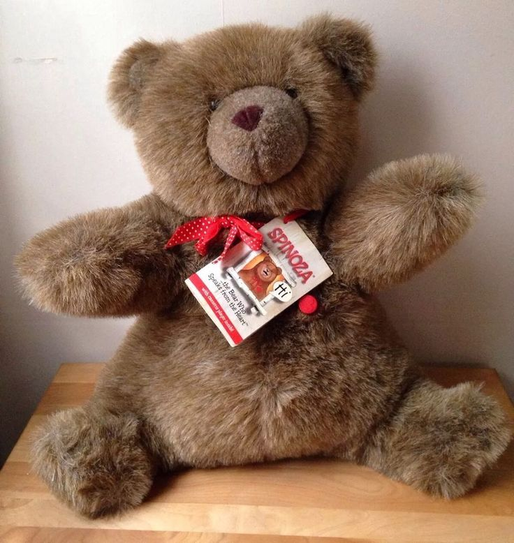 """1985 Spinoza Therapy Talking Teddy Bear Tape Player Stuffed Animal 17"""" Tested   eBay"""