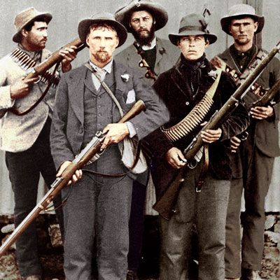 Boere Oorlog - Anglo Boer war. The Boers went to war in their best Sunday clothes.