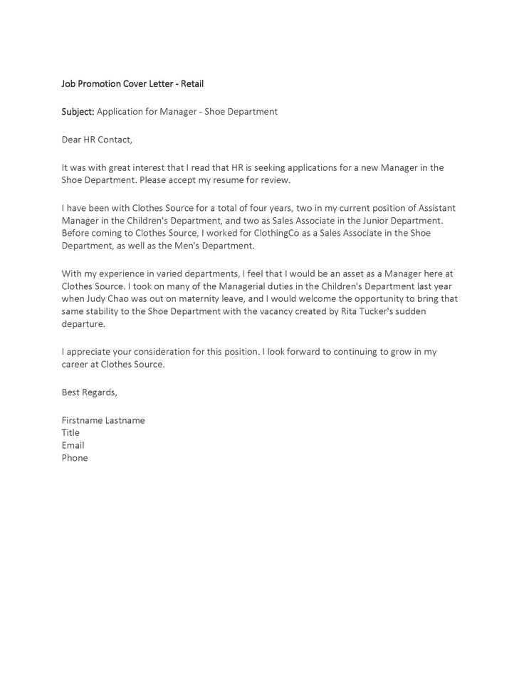 Cover Letter Sample Job Promotion -|- nemetas.aufgegabelt.info