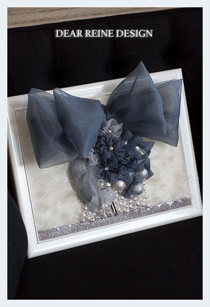 """Autumn and Winter Ribbon Collection.tulle Design,Ribbon technic,pearl,Fur.concept is """"Pear Couture Box.""""Ribbon Work Lesson.in Tokyo.lJFLAデザイナーズ資格リボンウォールデコレーション秋冬新作デザインです。 Concept:  チクチクと糸と針で繊細に縫いながら 私と作品が見つめ合う、恋する時間。   過去から現在まで受け継がれていく繊細な技法で 秋色に染まっていく街と共にノスタルジックな作品を仕上げていく。   この秋のJFLA Ribbon Wall Decorationは クラシカルな色彩と艶めきを漂わせ、クリエイションの魔法をかける。"""