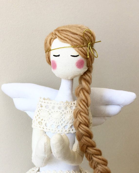 Angel Tilda Doll Christmas Decoration MADE TO by SilkWithCotton