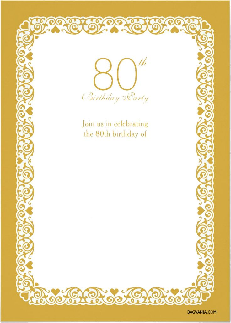 The 25 best 80th birthday invitations ideas – 80th Birthday Invitations Templates Free