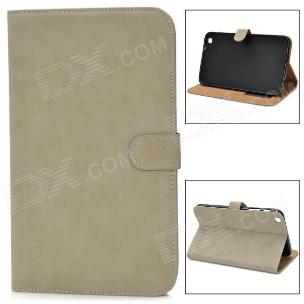 Protective PU Leather Flip Case for Samsung Tab3 T310 / T311 - Light Grey