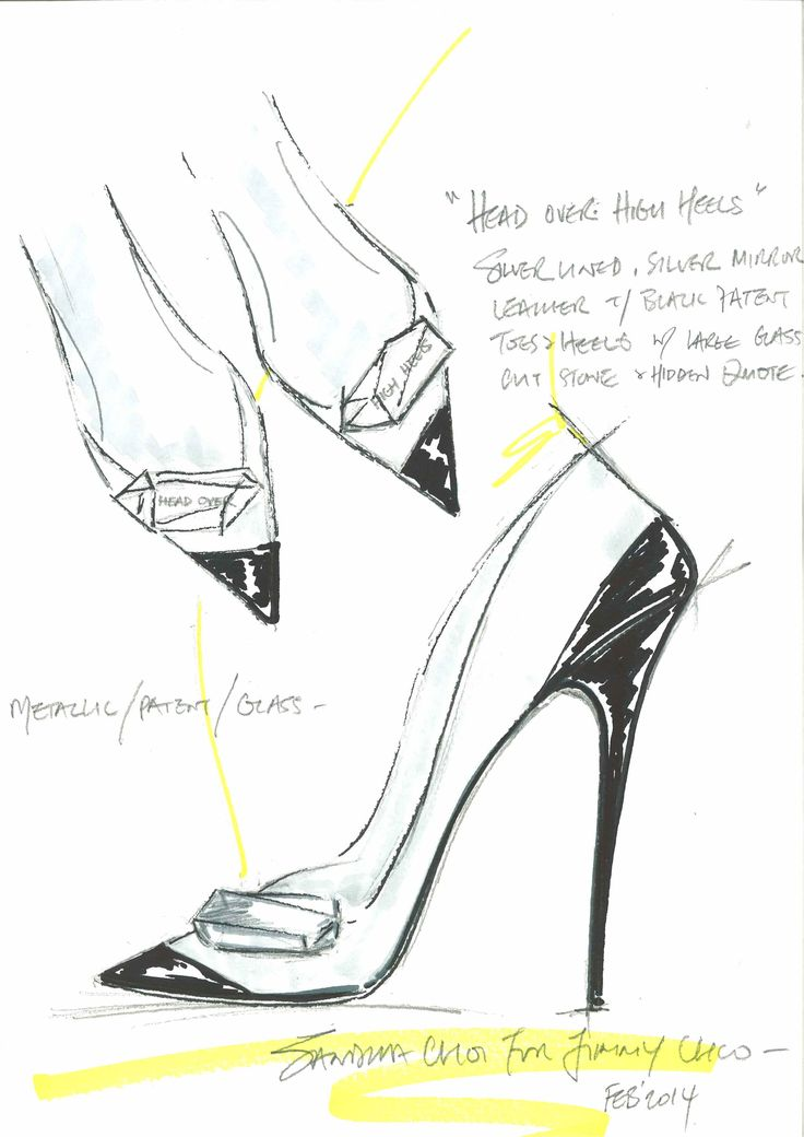 Jimmy Choo sketches for their Harrods Shoe Heaven exclusives