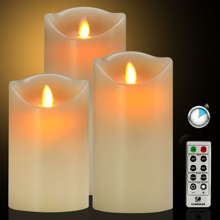 """Flameless Candles Battery Operated Candles with Remote Timer of 24-H Flickering Flameless Candles Set of 3(4""""5""""6"""")for Parties Gifts and Decoration Use-Comenzar"""