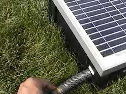 solar powered water pump.  Very cool!