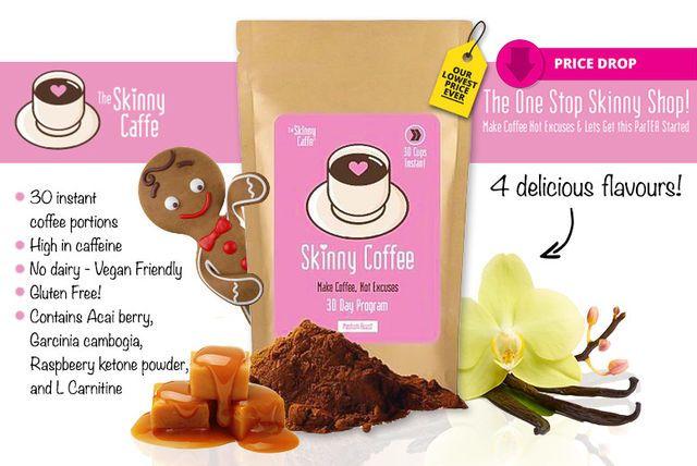 Instant 'Skinny Caffe' Coffee & Ketone Blend - 4 Flavours!