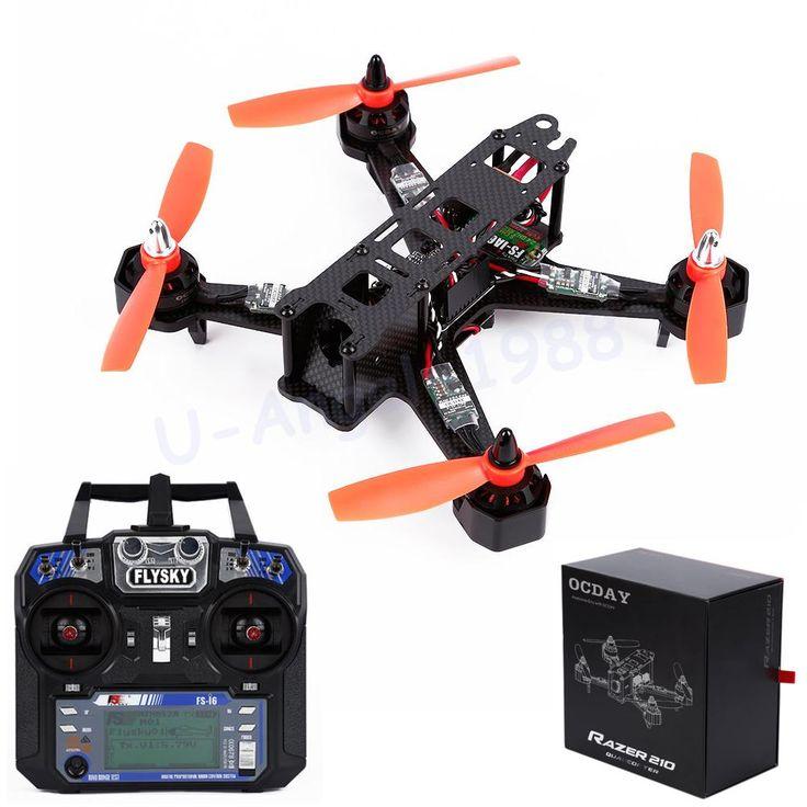 1 Set OCDAY RAZER 210 Size Full Carbon Fiber FPV Racing Drone Quadcopter With Flysky Fs-I6 RTF Wholesale