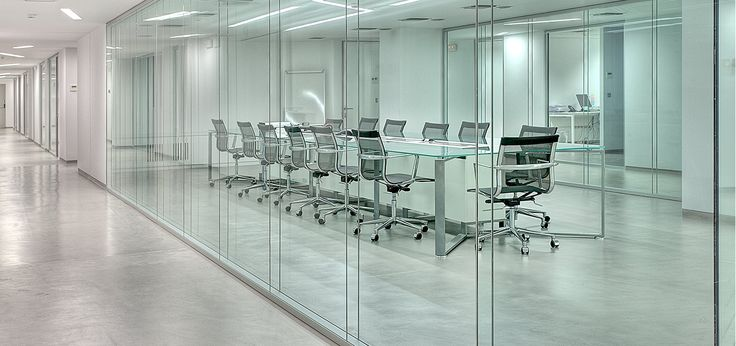 Frameless Double Glazed Office Partitions