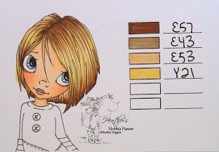 Copic Marker Hair Color - she posted several color combos (72 of them by 1/7/14); pin now, read later - bjl