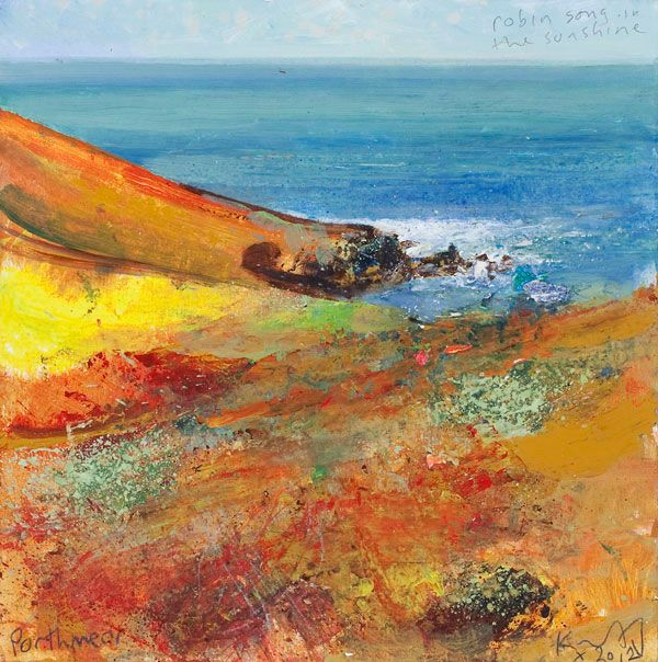 Kurt Jackson: Robin song in the sunshine. Porthmeor October 2012 Campden Gallery, fine art, Chipping Campden, camden gallery, contemporary, ...