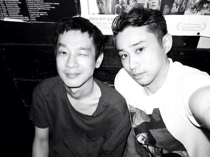 Japanese actor RYO KASE and CHIKASHI SUZUKI in Shimokitazawa, Tokyo. Photo Chikashi Suzuki 加瀬亮