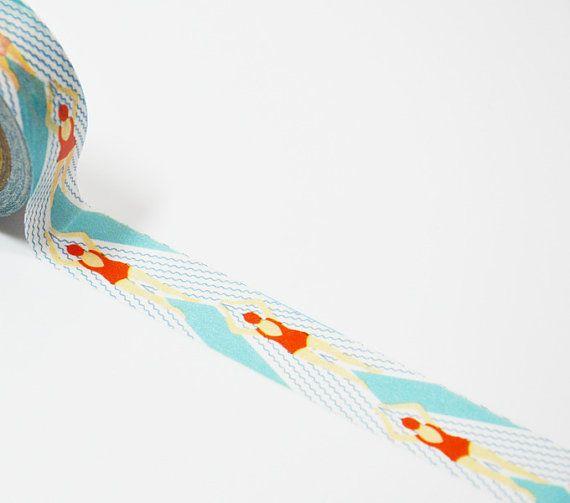 Ruban Adhésif Décoratif Nageuse  Masking Tape par simplecraftdesign