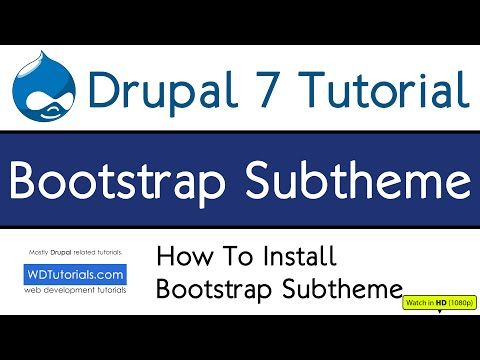 How To Install Bootstrap Subtheme (Drupal Tutorial) - YouTube