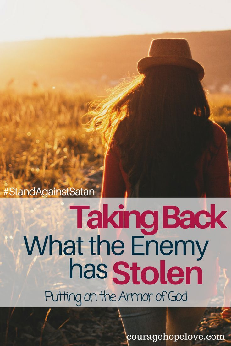 Are you tired of Satan stealing your peace? Are you ready to take a stand? Today I want to share with you one of the most powerful ways, a step-by-step guide, to standing against Satan in your life. / Stand Against Satan / Armor of God / Bible Study / Find Peace /