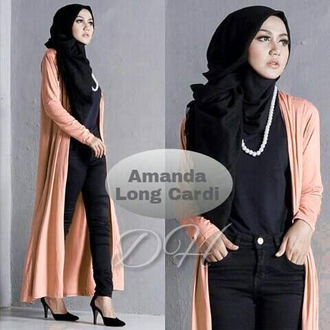 Amanda Long Cardi AMDL100 | MegaMuslimshop - Tempat belanja Kebutuhan Muslim Terlengkap