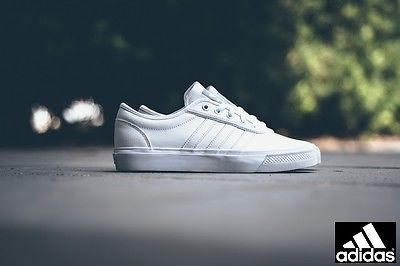 #Adidas adi-ease skateboard trainers #white grey | #men's uk 11.5,  View more on the LINK: http://www.zeppy.io/product/gb/2/192028511681/