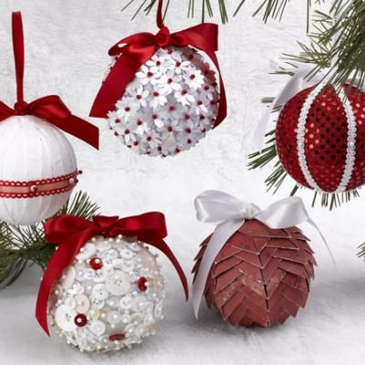 5 Christmas Ornaments in 5 Minutes {Handmade Christmas Oranments}   http://www.tipjunkie.com/post/5-christmas-ornaments-in-5-minutes-handmade-christmas-oranments/
