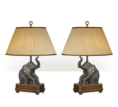 Exuberant Elephants Pair Of Table Lamps In 2019