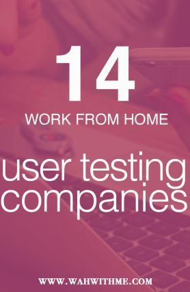 User testing jobs, remote jobs, usability testing, user test, make money online, make extra money online, work from home jobs, remote job, telecommute