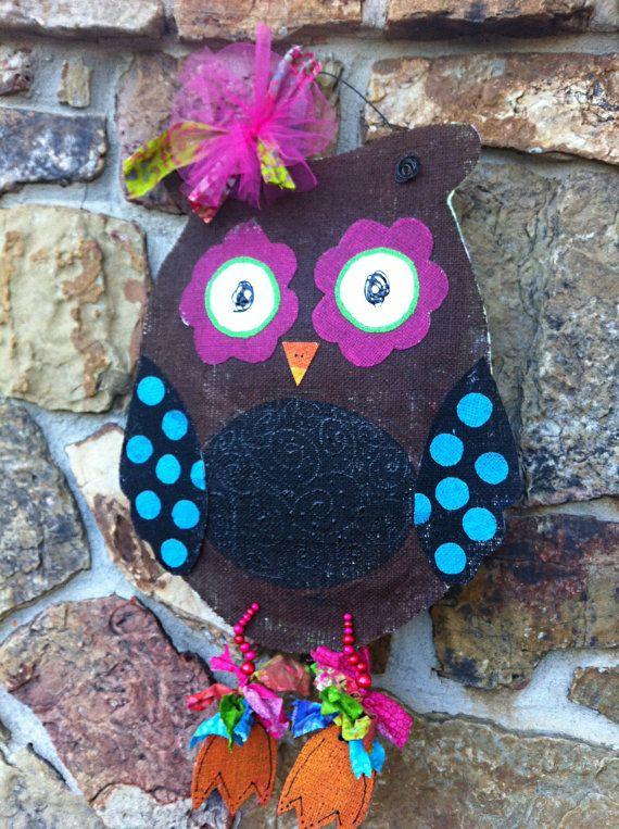 1000+ images about Wreaths & Door Decor on Pinterest  ~ 102409_Halloween Owl Door Hanger