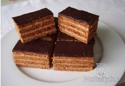 Mézes - csokis szelet